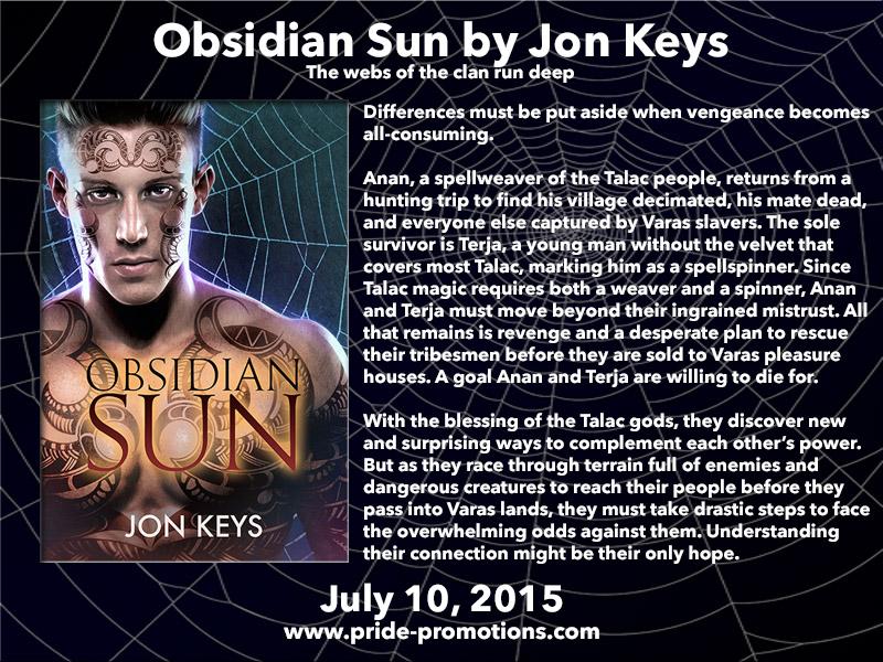 Obsidian Sun by Jon Keys Blog Tour