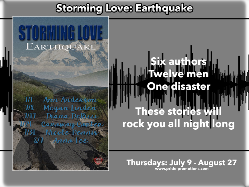 Six Authors, Twelve Men, One Disaster...Storming Love: Earthquake by MLR Press