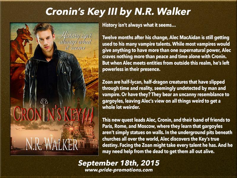 BLOG TOUR: Cronin's Key III by N. R. Walker