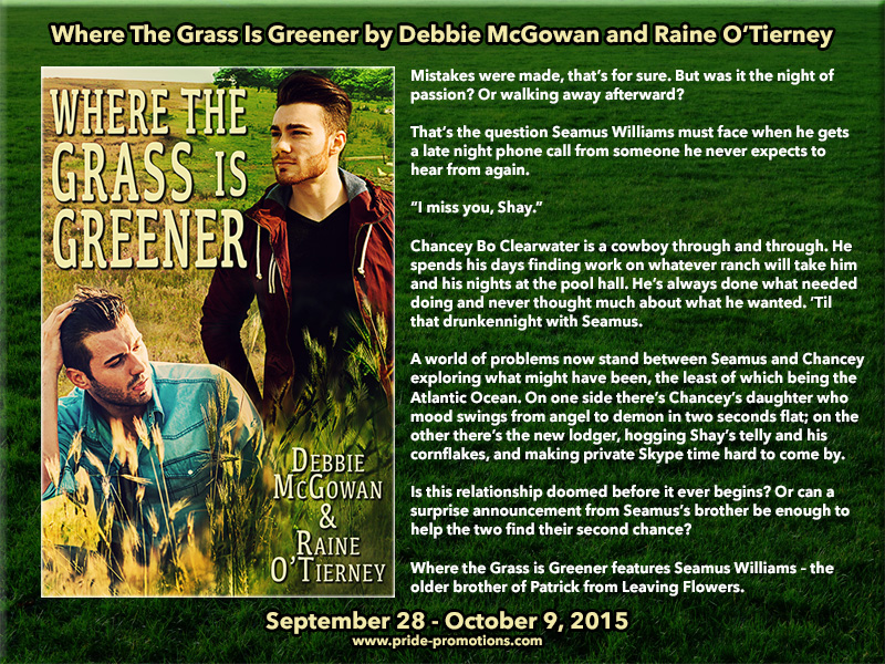 BLOG TOUR: Where the Grass is Greener by Debbie McGowan & Raine O'Tierney