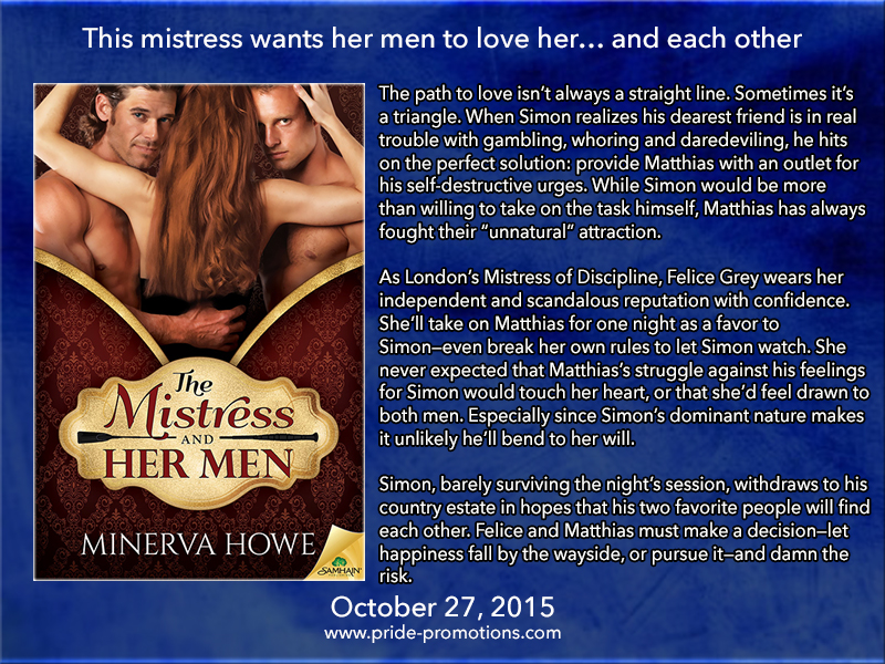 BOOK BLAST: The Mistress and Her Men by Minerva Howe