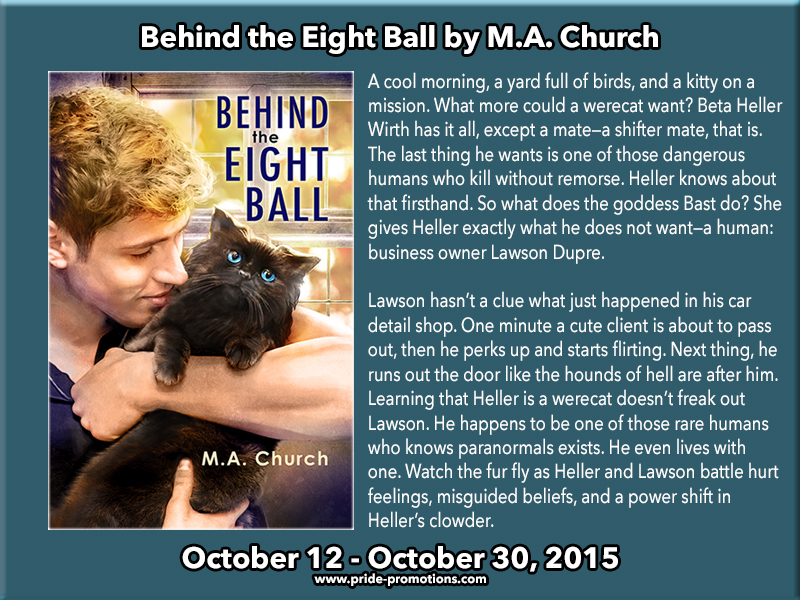 BLOG TOUR: Behind the Eight Ball by M.A. Church
