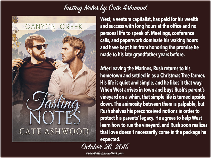 BOOK BLAST: Tasting Notes by Cate Ashwood