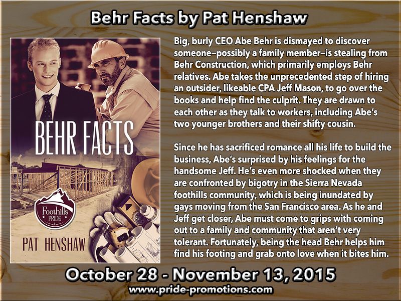BLOG TOUR: Behr Facts by Pat Henshaw