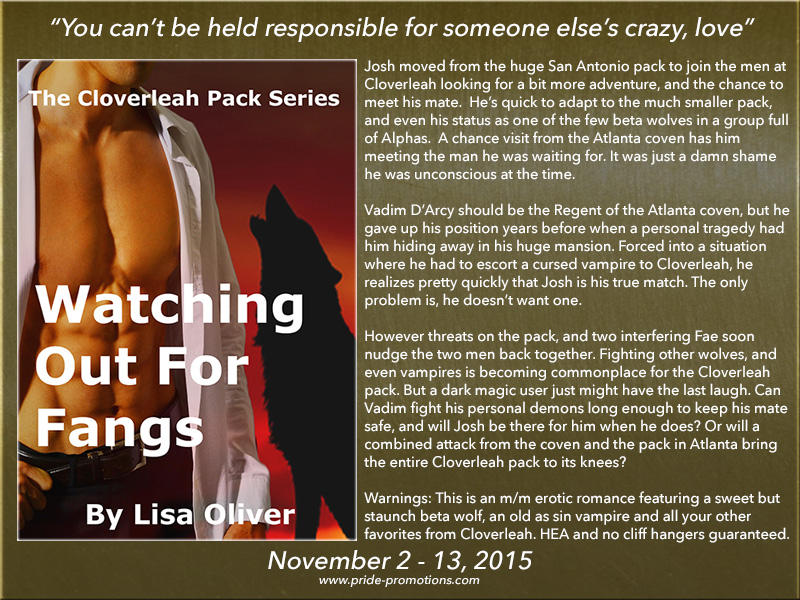 BLOG TOUR: Watching Out For Fangs by Lisa Oliver