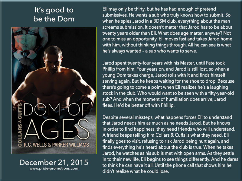 BOOK BLAST: Dom of Ages by K.C. Wells & Parker Williams