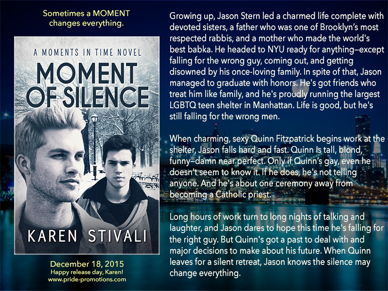 BOOK BLAST: Moment of Silence by Karen Stivali