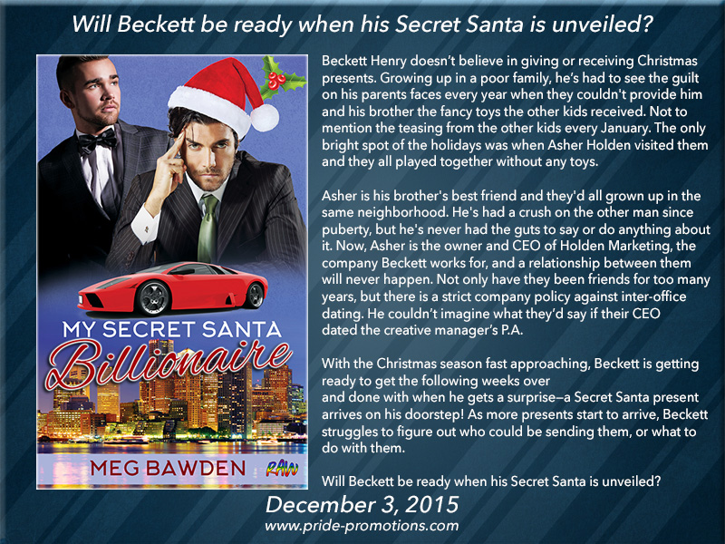 BOOK BLAST: My Secret Santa Billionaire by Meg Bawden