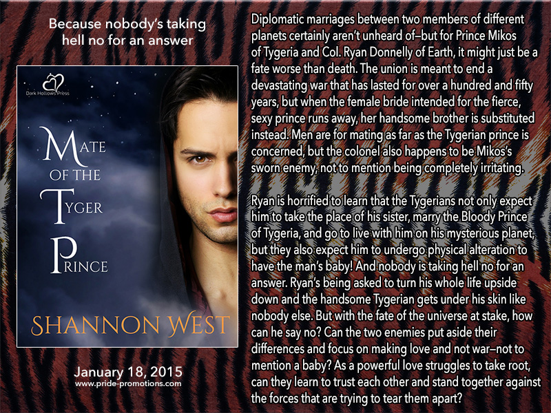 BOOK BLAST: Mate of the Tyger Prince by Shannon West