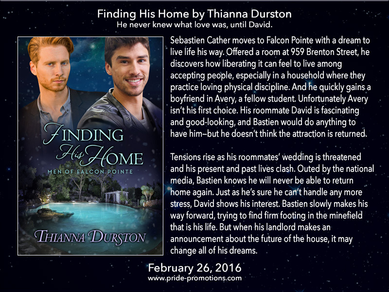 BOOK BLAST: Finding His Home by Thianna Durston