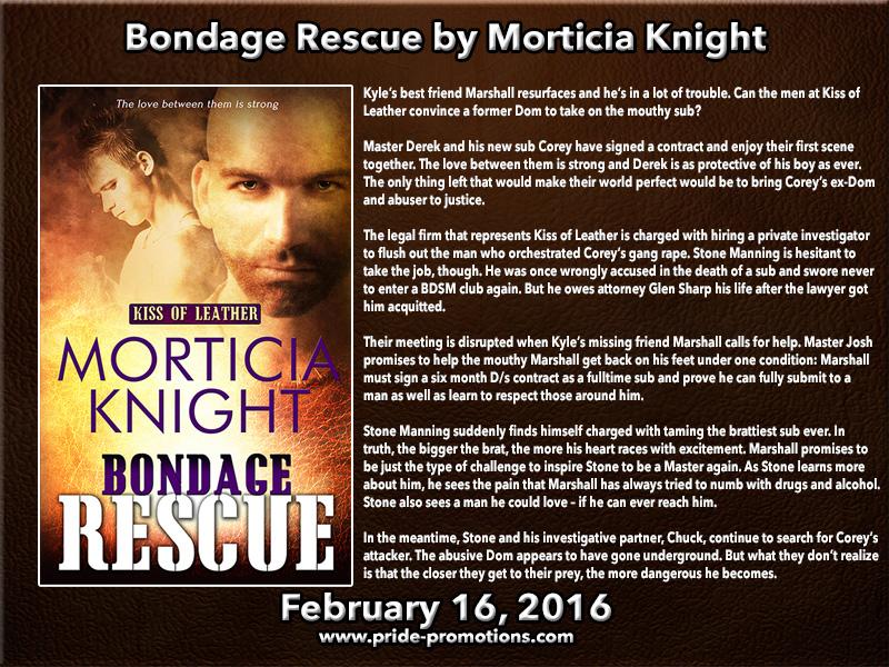 BOOK BLAST: Bondage Rescue by Morticia Knight