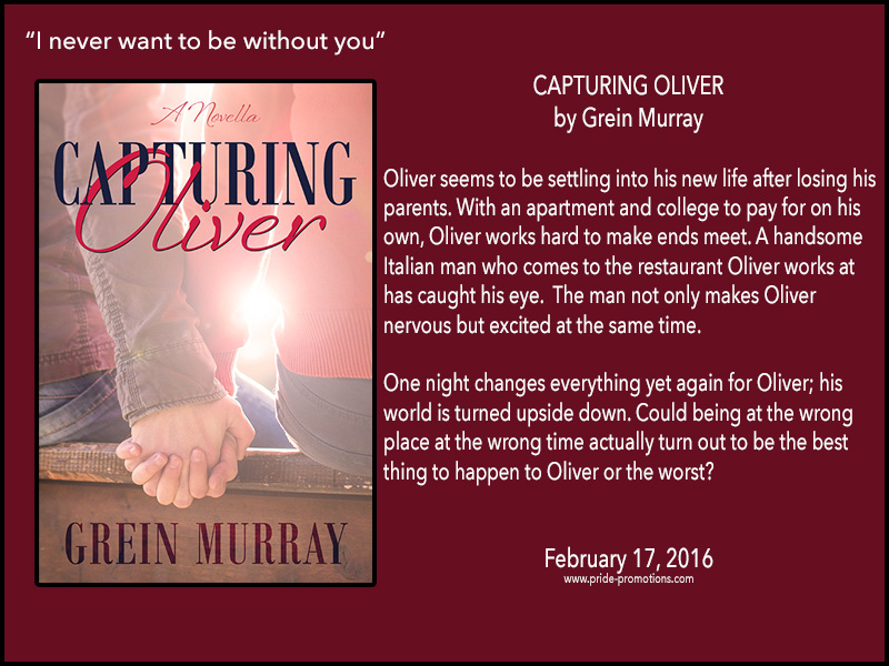 BOOK BLAST: Capturing Oliver by Grein Murray