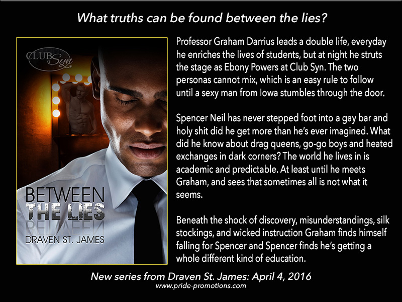 BOOK BLAST: Between The Lies by Draven St. James