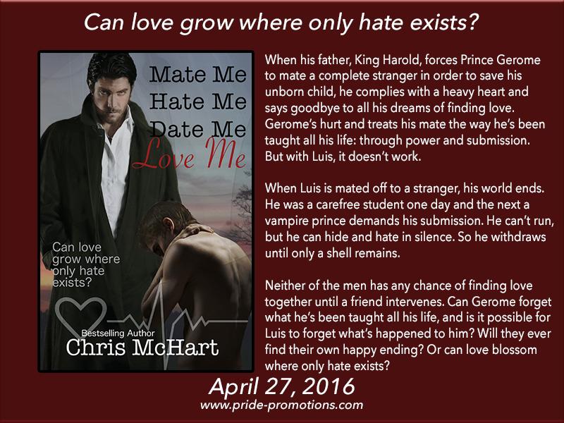 BOOK BLAST: Mate Me, Hate Me, Date Me, Love Me by Chris McHart