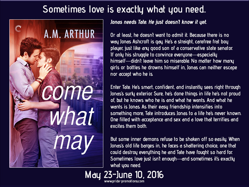 BLOG TOUR: Come What May by A.M. Arthur