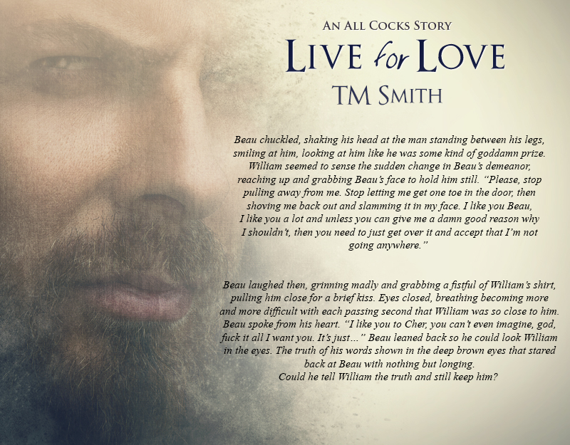 Live for Love, TM Smith, MM Romance, HIV, Porn