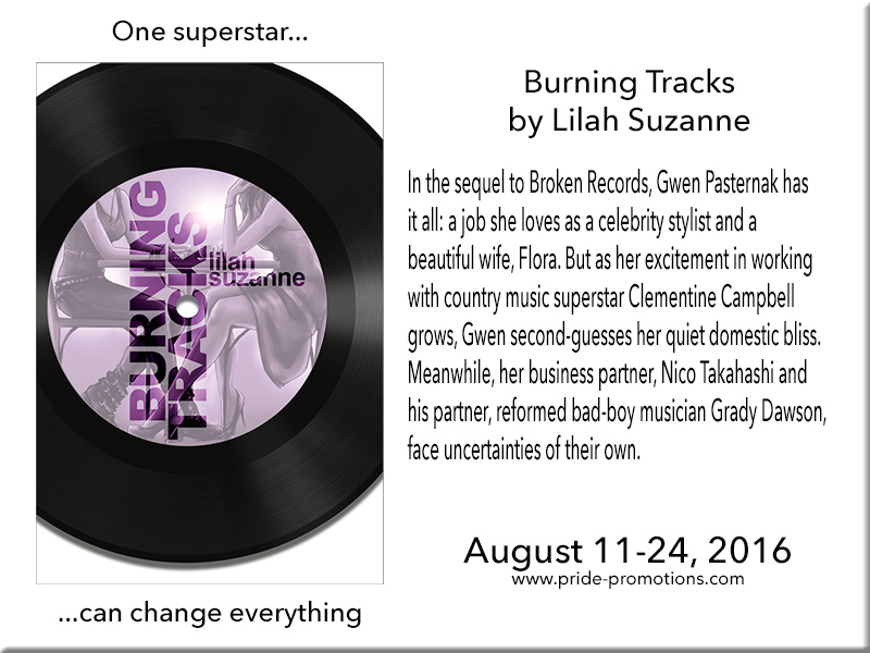 BOOK BLAST: Burning Tracks by Lilah Suzanne