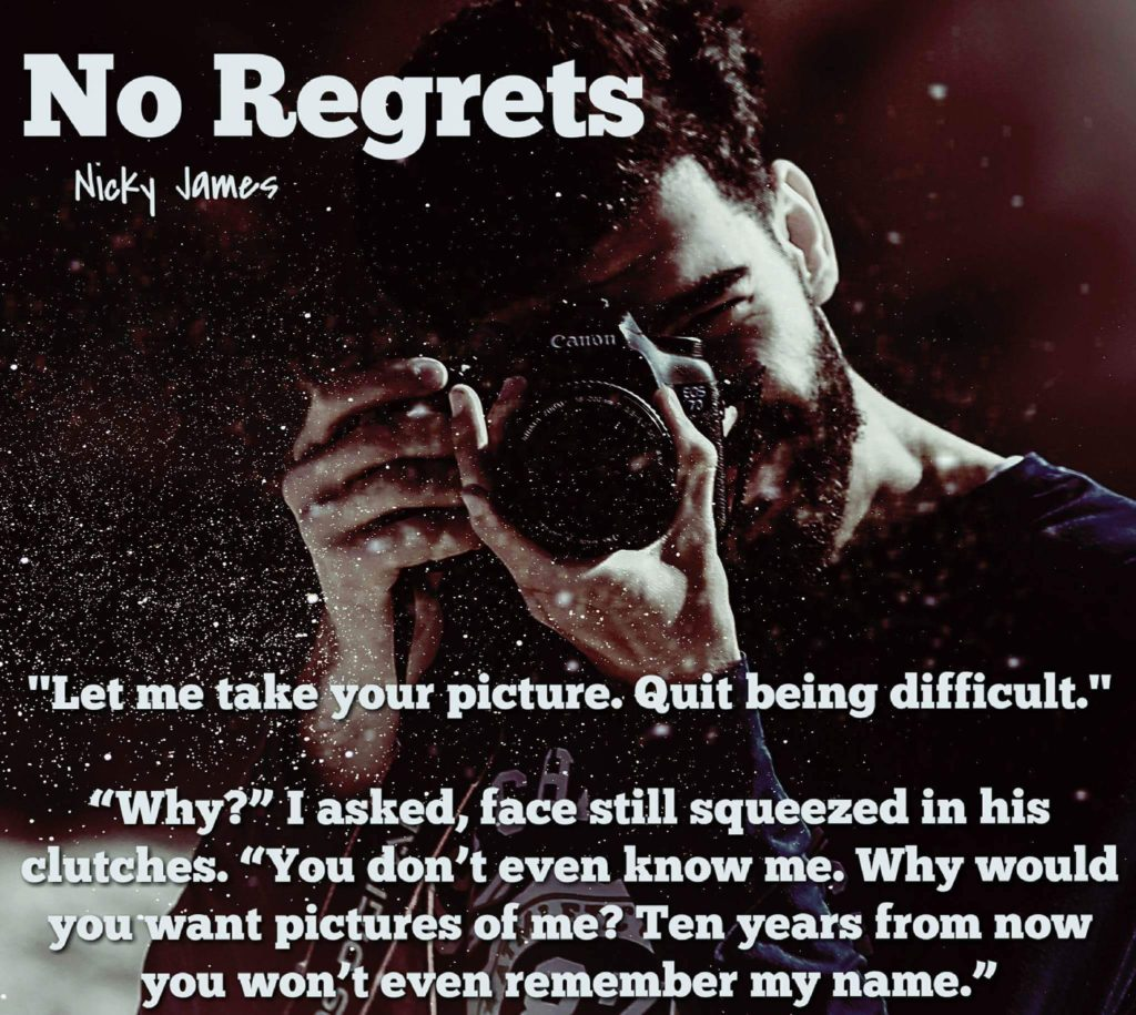 Get No Regrets by Nicky James on Amazon & Kindle Unlimited